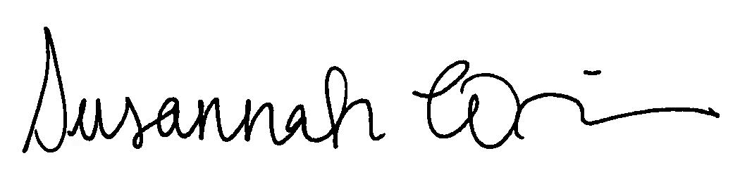Susannah Winslow Signature